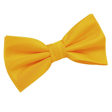 Solid Check Sunflower Gold Bow Tie