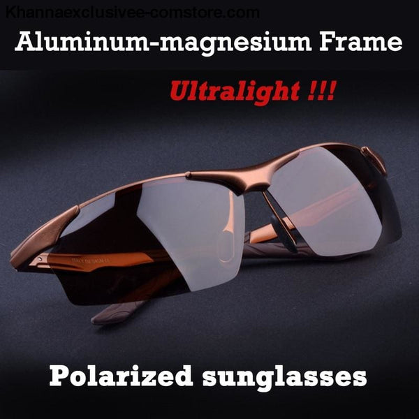 Aluminum magnesium alloy mens polarized sunglasses Fashionable driving Leisure Goggles - Aluminum magnesium alloy mens polarized sunglasses