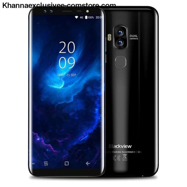 Blackview S8 4G 5.7 Inch Android 7 Octacore 4Gb+64Gbdual Front Cameras Mobile Phone - Standard / Black - Blackview S8 4G Telephone 5.7 Inch