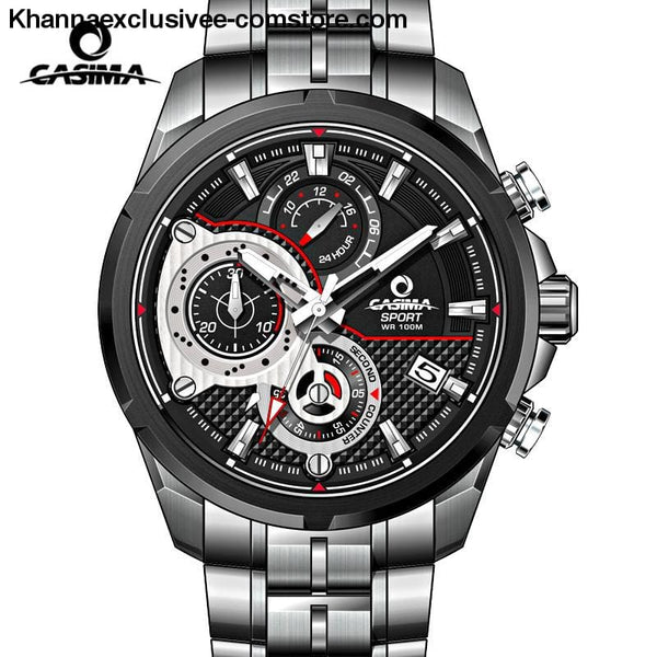 Casima Mens Watch Top Brand Luxury Sport Watch Waterproof Luminous Chronograph Quartz Wrist Watch - Casima Mens Watch Top Brand Luxury Sport