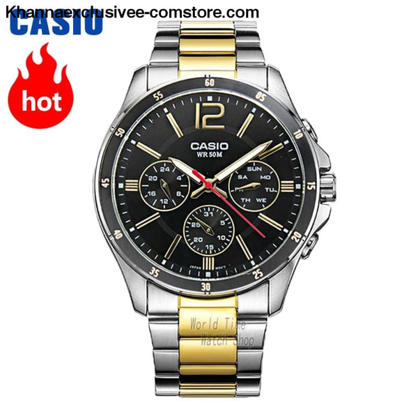 Casio Watch Analogue Mens Quartz Sports Fashionable Business Waterproof Watch Mtp-1374 - Casio Watch Analogue Mens Quartz Sports Fashionable