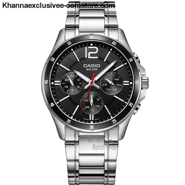 Casio Watch Analogue Mens Quartz Sports Fashionable Business Waterproof Watch Mtp-1374 - Mtp1374D1A-A - Casio Watch Analogue Mens Quartz