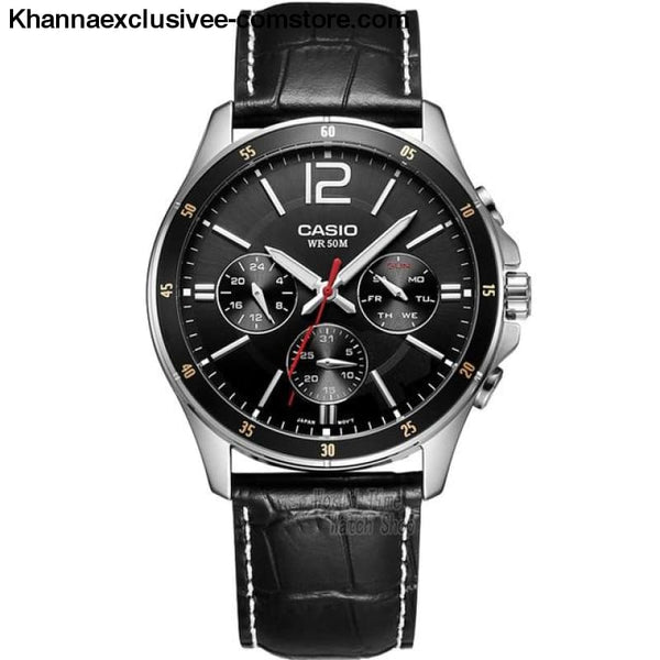 Casio Watch Analogue Mens Quartz Sports Fashionable Business Waterproof Watch Mtp-1374 - Mtp1374L1A-A - Casio Watch Analogue Mens Quartz