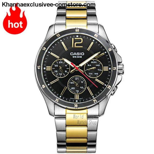 Casio Watch Analogue Mens Quartz Sports Fashionable Business Waterproof Watch Mtp-1374 - Mtp1374Sg1A-A - Casio Watch Analogue Mens Quartz