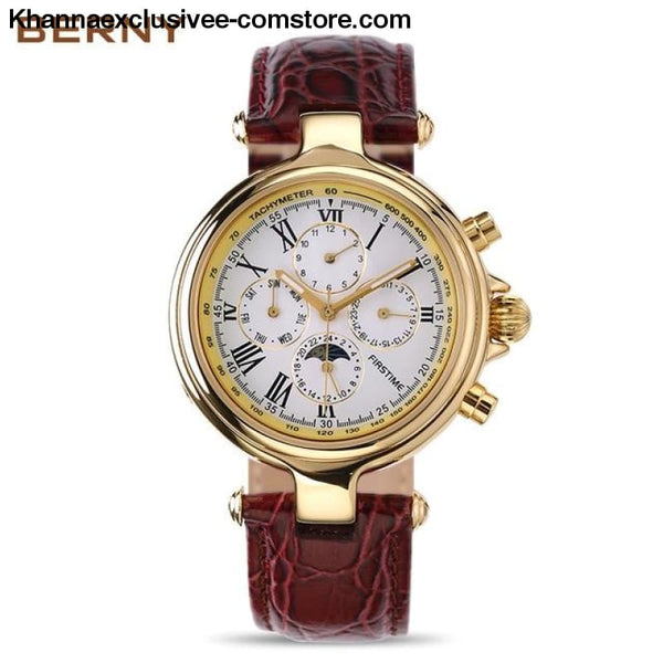 Famous Brand Gold Role Luxury Mens Automatic mechanical watch Moon Phase Wrist Watch AM7042M - AM7042MY - Famous Brand Gold Role Luxury Mens