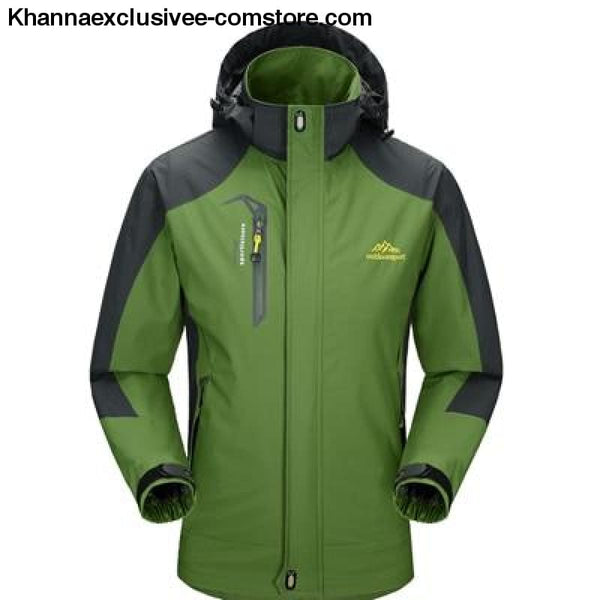 Mens Army Waterproof Windbreaker Breathable UV protection Overcoat jacket till 5XL - Army Green / L - Mens Spring Autumn Army Waterproof