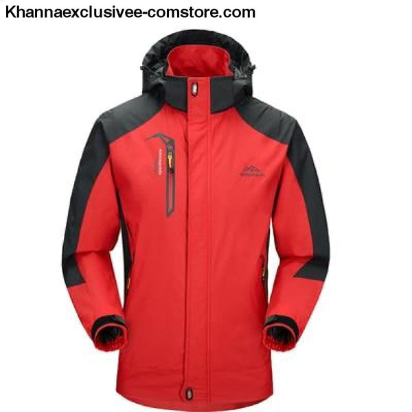 Mens Army Waterproof Windbreaker Breathable UV protection Overcoat jacket till 5XL - Red / L - Mens Spring Autumn Army Waterproof