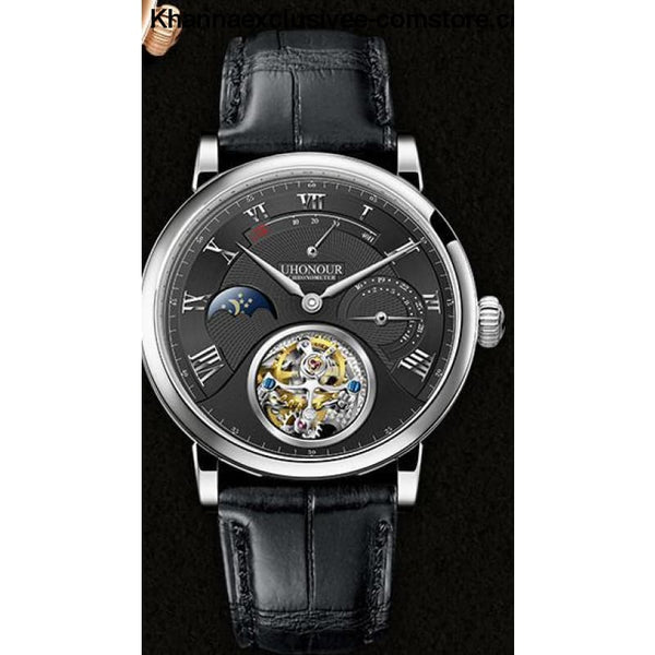 Mens Luxury Brand UHONOUR Tourbillon Sapphire 25 Jewels Mechanical Sea-gull Movement Wrist Watch - 2 - Mens Luxury Tourbillon Sapphire 25