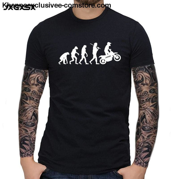 Mens MOTORCYCLE EVOLUTION T Shirt Summer Short Sleeve O-Neck Cotton Good Quality T-shirt - Mens MOTORCYCLE EVOLUTION T Shirt Summer Short
