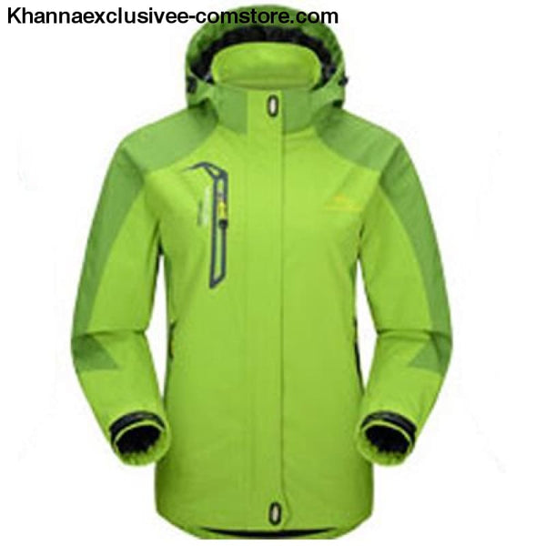 Mountainskin Unisex Waterproof Hooded Polyester Cotton Jacket Unisex Branded Warm Outerwear Coat - Women Green / M - Mountainskin Mens