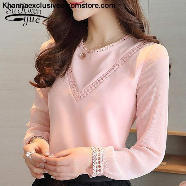 New Fashionable womens blouse long sleeve chiffon shirt casual tops - New Fashionable womens blouse long sleeve chiffon shirt casual tops