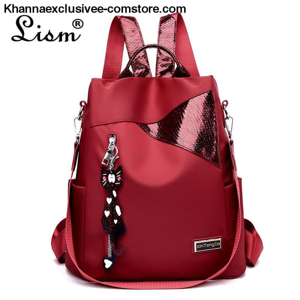 New Ladies backpack anti-theft Oxford cloth tarpaulin stitching sequins college bag purse - New Ladies backpack anti-theft Oxford cloth