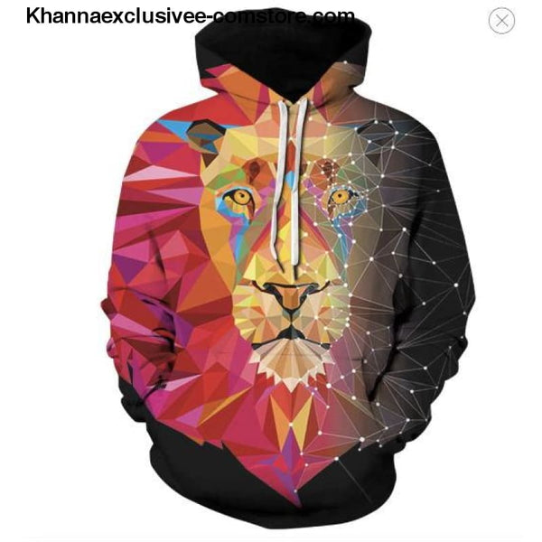 New Space Galaxy Unisex Hoodies 3d Print Paisley Nebula/lion/wolf/horse Jacket - picture color 1 / XS - New Space Galaxy Hoodies Men/Women