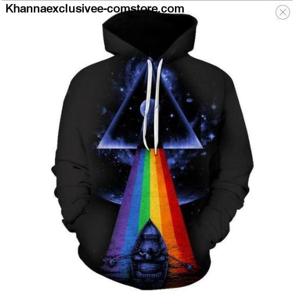 New Space Galaxy Unisex Hoodies 3d Print Paisley Nebula/lion/wolf/horse Jacket - picture color 10 / XS - New Space Galaxy Hoodies Men/Women