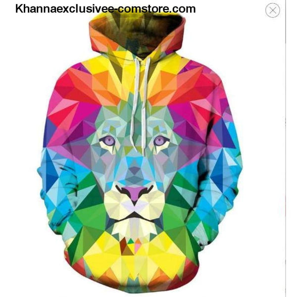 New Space Galaxy Unisex Hoodies 3d Print Paisley Nebula/lion/wolf/horse Jacket - picture color 11 / XS - New Space Galaxy Hoodies Men/Women