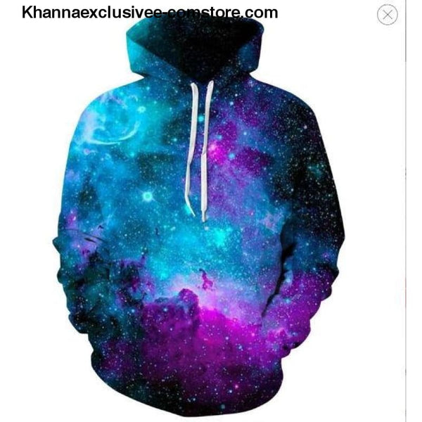 New Space Galaxy Unisex Hoodies 3d Print Paisley Nebula/lion/wolf/horse Jacket - picture color 12 / XS - New Space Galaxy Hoodies Men/Women