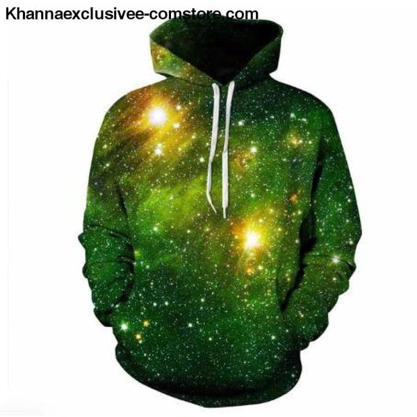 New Space Galaxy Unisex Hoodies 3d Print Paisley Nebula/lion/wolf/horse Jacket - picture color 3 / XS - New Space Galaxy Hoodies Men/Women