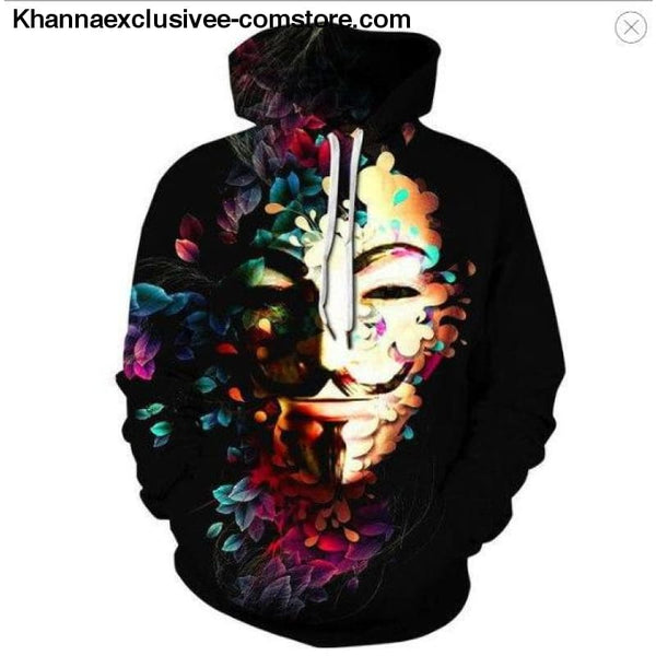 New Space Galaxy Unisex Hoodies 3d Print Paisley Nebula/lion/wolf/horse Jacket - picture color 5 / XS - New Space Galaxy Hoodies Men/Women