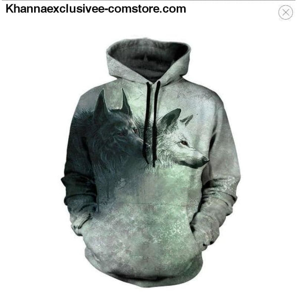 New Space Galaxy Unisex Hoodies 3d Print Paisley Nebula/lion/wolf/horse Jacket - picture color 6 / XS - New Space Galaxy Hoodies Men/Women