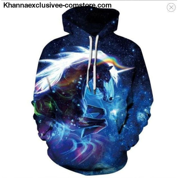 New Space Galaxy Unisex Hoodies 3d Print Paisley Nebula/lion/wolf/horse Jacket - picture color 7 / XS - New Space Galaxy Hoodies Men/Women