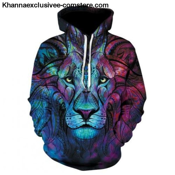 New Space Galaxy Unisex Hoodies 3d Print Paisley Nebula/lion/wolf/horse Jacket - picture color 8 / XS - New Space Galaxy Hoodies Men/Women