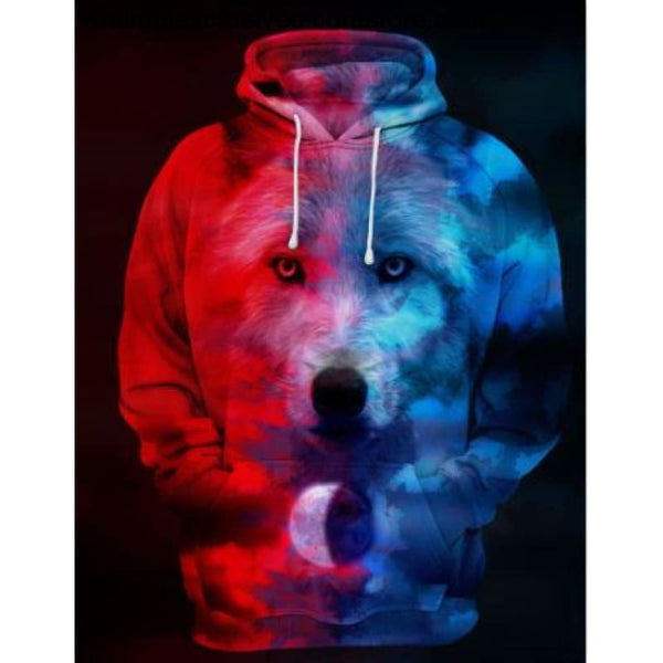 New Space Galaxy Unisex Hoodies 3d Print Paisley Nebula/lion/wolf/horse Jacket - picture color / XS - New Space Galaxy Hoodies Men/Women