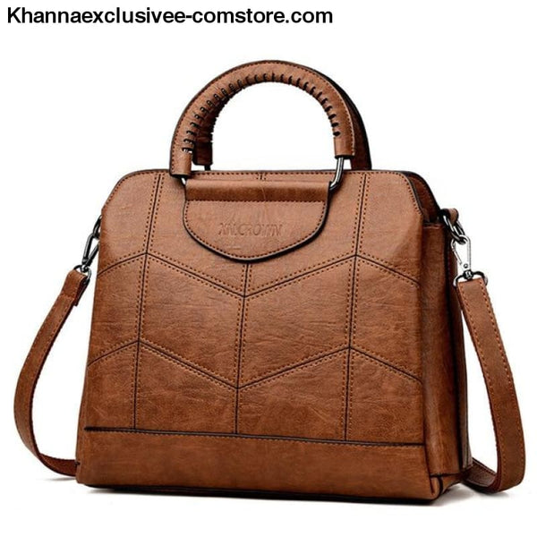 New Tote Leather Luxury Womens Designer Handbag High Quality Cross body Bag Sac a Main Ladies Purse - BROWN / China - New Tote Leather