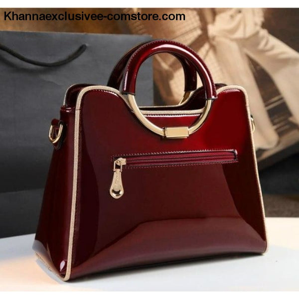 New womens luxury high quality designer leather wedding Boston Style Purse Hand Shoulder bag - New luxury high quality designer handbag