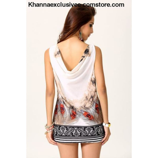 New Womens Vintage dress tropical mini dress leopard sexy Chiffon Sleeveless desigual dress - As Image Gray / One Size - New Womens Vintage