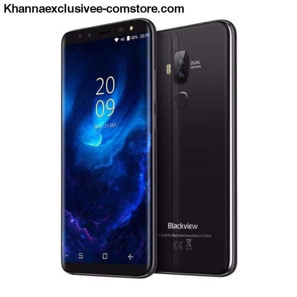 Original Blackview S8 5.7 18:9 HD Octa Core 4GB + 64GB ROM Dual SIM Fingerprint 4 Cameras Mobile Phone - black / CHINA - Original Blackview