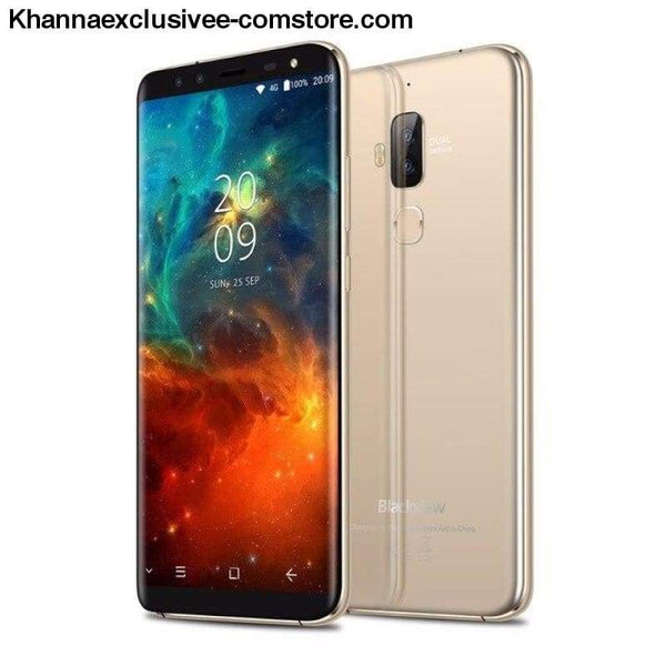 Original Blackview S8 5.7 18:9 HD Octa Core 4GB + 64GB ROM Dual SIM Fingerprint 4 Cameras Mobile Phone - Gold / CHINA - Original Blackview