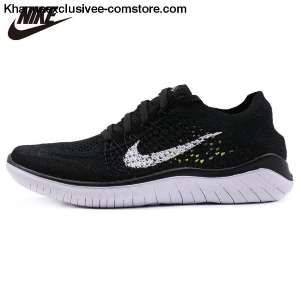 Original Nike Free RN Flyknit Women's Running Mesh Cushion Damping Sneakers Durable Shoes - Original Nike Free RN Flyknit Women's Running