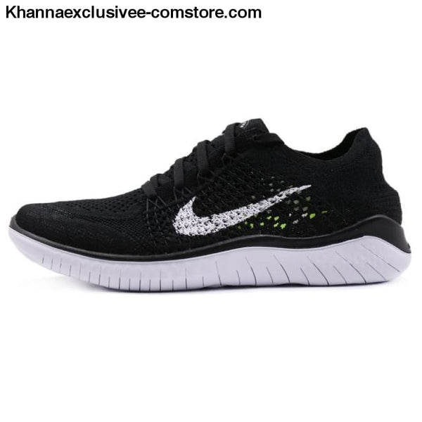Original Nike Free RN Flyknit Women's Running Mesh Cushion Damping Sneakers Durable Shoes - W-942839-001 / 7 - Original Nike Free RN Flyknit