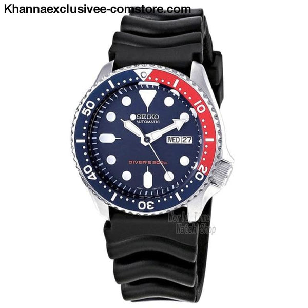 Original Seiko Mens Divers Analog Japan Automatic Stainless Steel Wrist Watch - SKX009K1-A - Seiko Mens Divers Analog Japan Automatic