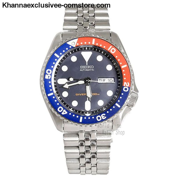 Original Seiko Mens Divers Analog Japan Automatic Stainless Steel Wrist Watch - SKX009K2-A - Seiko Mens Divers Analog Japan Automatic