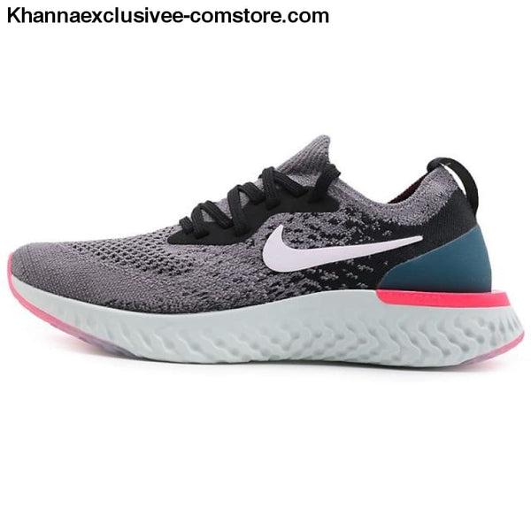 Original WMNS NIKE EPIC REACT FLYKNIT Womens Running Shoe Stylish Athletic Shock Damping Sneaker - W-AQ0070-010 / 6.5 - Original WMNS NIKE