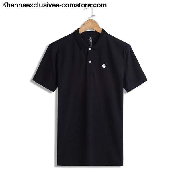 Pioneer Camp Polo shirts mens brand office quality 100% cotton casual summer polo - ADP701166 black / M - Pioneer Camp Polo shirts mens