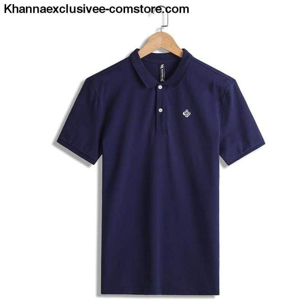 Pioneer Camp Polo shirts mens brand office quality 100% cotton casual summer polo - ADP701166 dark blue / M - Pioneer Camp Polo shirts mens