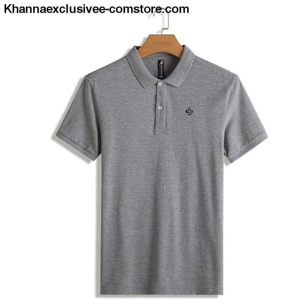 Pioneer Camp Polo shirts mens brand office quality 100% cotton casual summer polo - ADP701166 dark gray / M - Pioneer Camp Polo shirts mens