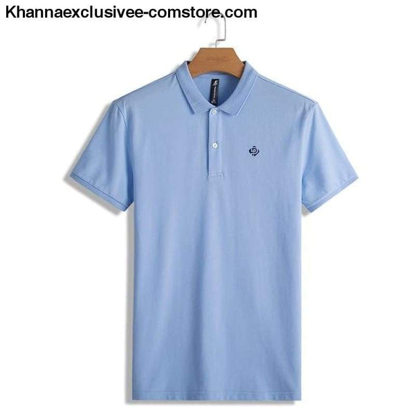 Pioneer Camp Polo shirts mens brand office quality 100% cotton casual summer polo - ADP701166 Light blue / M - Pioneer Camp Polo shirts mens