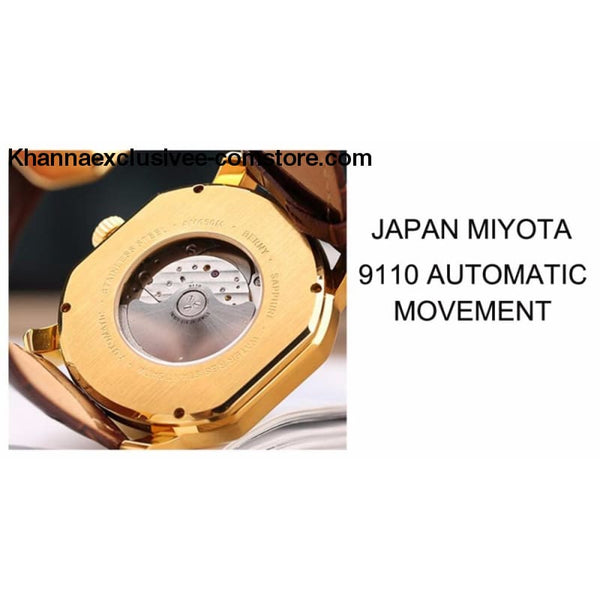 Top Brand Berny Luxury Japan Miyota Mechanical mens AM050M Automatic movement watches - Top Brand Berny Luxury Japan Miyota Mechanical mens