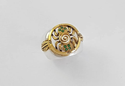Spider Ring Gold Plated