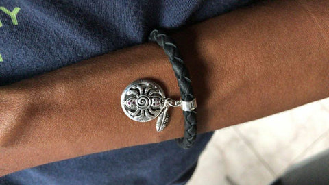 Spider Bracelet Leather - - Bracelet