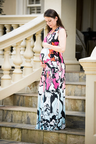Pretty maternity maxi dress