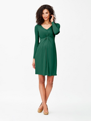 La Belle Bump maternity green dress for work