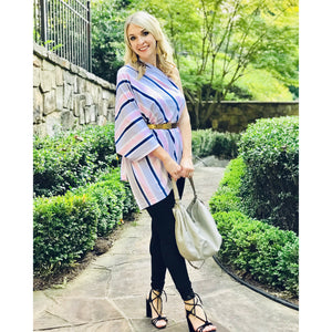 The Multi-Functional Mina & Vine Nursing Scarf - Savvy Stripe