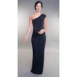One Shoulder Black Formal Dress