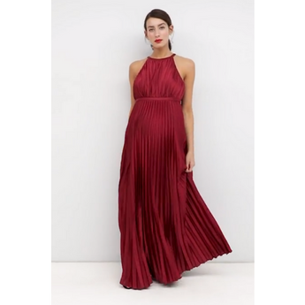 The India: Pleated Floor Length Dress