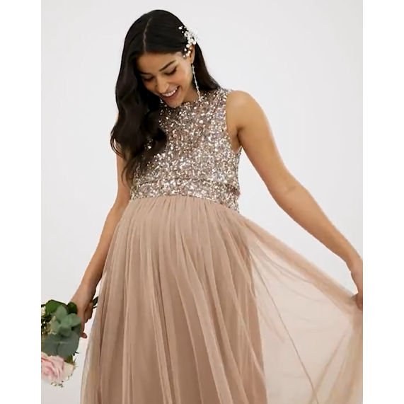 Sleeveless Sequin & Tulle