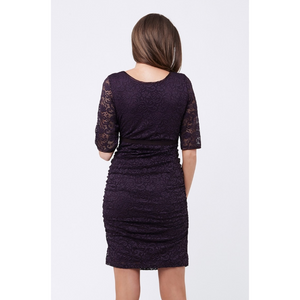 Aubergine Lace Dress